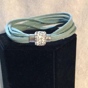 Mint Green Suede Bracelet